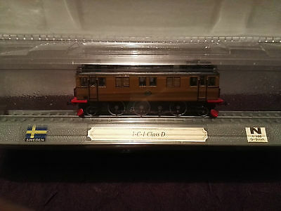 Del Prado N Gauge Model Train On A Plinth. Sweden 1-C-1. Scale 1:160. G=9mm