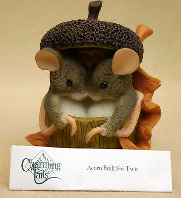 "Charming Tails, Fitz And Floyd, ""acorn Built For Two"" Item 85/403"
