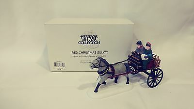 Dept 56 Red Christmas Sulky Heritage Village 58401 Retired Complete