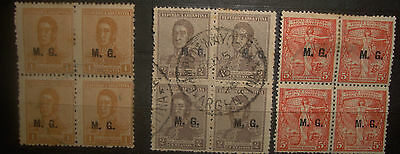 Argentina Stamps 1920s  San Martin Postal Congress  M.G. ministry of wa   Lot 46