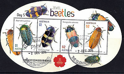 Australia China 2016 Beetles Stamp Show Set of 5 minisheets Days 1 to 5  Used