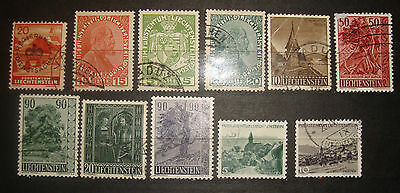 Liechtenstein  early postage stamps used Lot 1