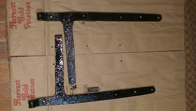 """SET [2] Antique 22 1/2"""" COLONIAL Hand Forged Barn Door Strap Hinges"""