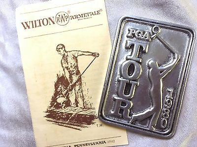 Official PGA Golf 1980 edition Bag Tag made by Wilton Armetale