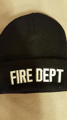 NEW Embroidered FIRE DEPT  Stocking Watch Cap Hat Fire Department