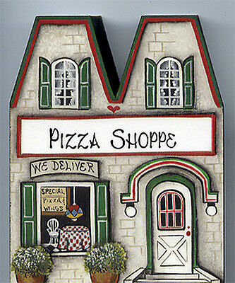 Brandywine Collectible Houses & Shops: PIZZA SHOP Restaurant - Shelf Sitter