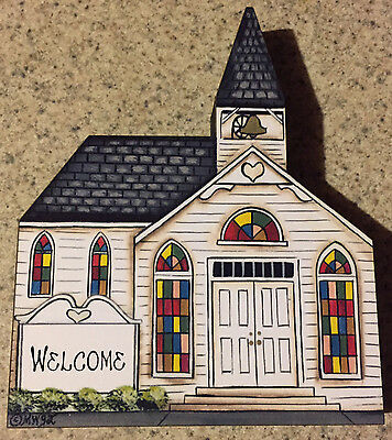 Brandywine Collectible Downtown Houses: WHITE COLONIAL CHURCH Traditional