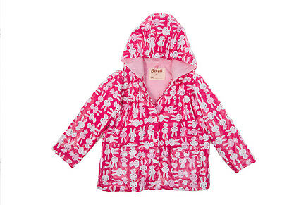 BOREII - Waterproof Windproof Breathable Kids Raincoat Jacket <Bunny>