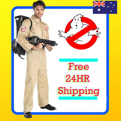Mens Ghostbusters Costume - Mens -  Adults - GHOST BUSTERS 80s 1980s Fancy Dress