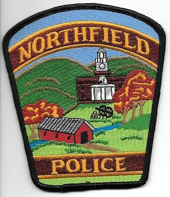 """*NEW*  Northfield, Vermont (4"""" x 4.75"""") shoulder police patch (fire)"""