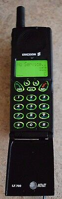 vintage collectible cell phone ericsson lx700 att working & great as a prop