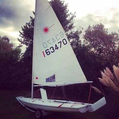 Laser Sailing Dinghy + Launching Trolley + Cover BARGAIN!