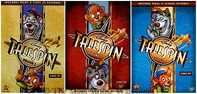 Disney Channel Afternoon Cartoon Talespin Complete Series on DVD Volumes 1 2 & 3