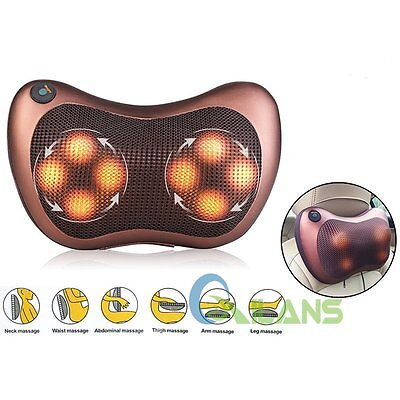 Electronic Massage Pillow Massager Cushion Relax Neck Back Shoulder For Car Home