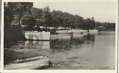Isle Of Wight St.helens Old Mill Camp Boats Caravans  Postcard  Real Photo