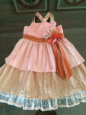 Chino baby girl toddler size1- 2yrs party dress, ex cond! flower girl