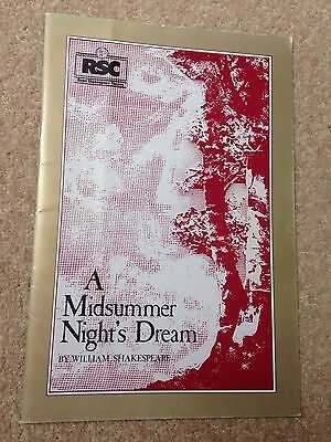 1981 A Midsummer Night's Dream Rsc Programme,royal Shakespeare Theatre Stratford