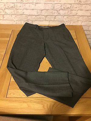 Men's Next Formal Trousers 36R Tailored Fit Grey