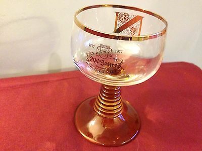 Vintage Niederthaler Hof 200 Jahre Commemorative Wine Glass 1777- 1977