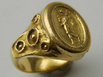 "RARE OLD 22CT GOLD RING - INSCRIPTION INSIDE SHANK READS ""siragusa"" - ANTIQUITY"