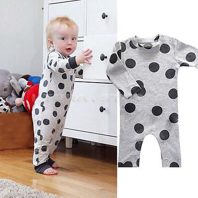 Kids Toddler Baby Girls Romper Jumpsuit Bodysuit Onesies Clothes Outfit 6-12 M