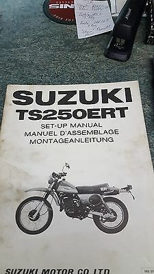Suzuki Ts 250 Er T Factory Issued Set Up Manual 1980