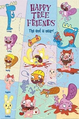 "Happy Tree Friends Poster ""the End Is Near"" Licensed ""brand New"""
