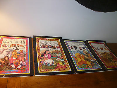Lot : 4 grands livres de contes de fées BE