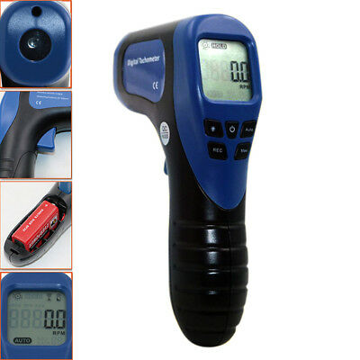 Digital Non-Contact Laser Photo Tachometer Rpm Tach Tester Meter Speed Gauge