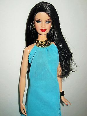 2012 Holiday Barbie Doll # W3538 Pool Chic Barbie Look Dress Model Muse for OOAK