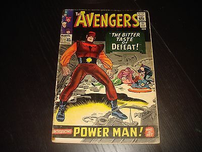 THE AVENGERS #21  Silver Age Lee Heck Marvel Comics 1965  G/VG
