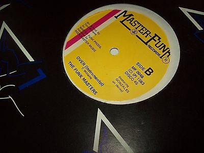 """The Funk Masters It's Over 12"""" Single Masterfunk Records 1983"""