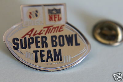 Vintage All Time Super Bowl American Football Team Pin Badge,1990, NFL