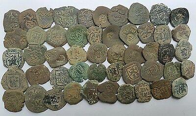 *Prados* LOT OF 50 PIRATE COBS SPANISH COLONIAL COINS