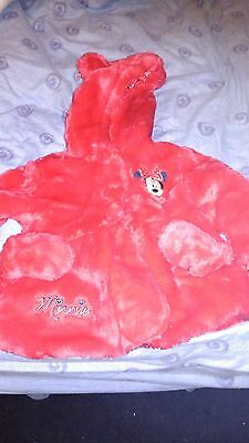 Girls 'Disney' Minnie Mouse Red sparkly coat age 18-24 months