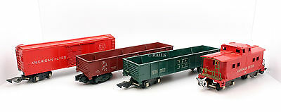 American Flyer S Gauge Rake Of 4 Assorted Freight Wagons (T2)
