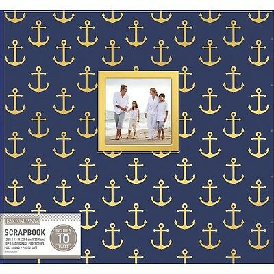 "K&Company 30706484 Patterned Post Bound Window Album 12""X12""-Nautical NEW"
