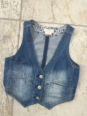 H&M & Now Limited Edition Garment Denim Waistcoat 9 - 10 Years VGC Girls