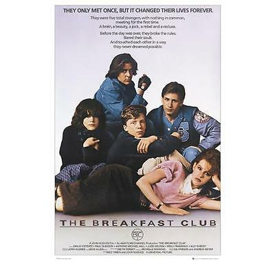 "The Breakfast Club Poster ""licensed"" Emilio Estevez, Molly Ringwald, Ally Sheedy"