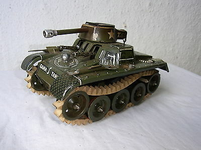 Alter GAMA Blechpanzer Tank T.65 mit Lenkung Us Zone Germany