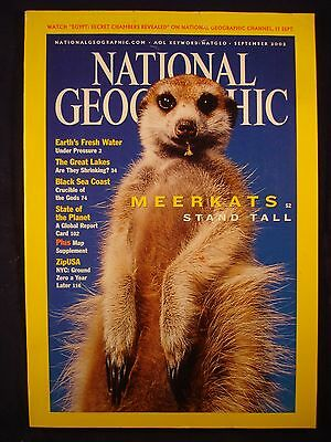 National Geographic - September 2002 - Meerkats, stand tall