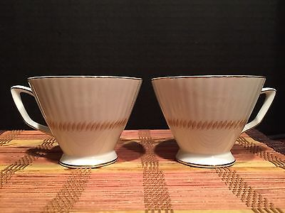 """2 Coffee Cup Set Trend China New Port Made in Japan 4 1/2""""x2 3/4"""""""