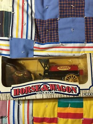 ERTL HORSE & WAGON COIN BANK -  DIE-CAST METAL New In Box
