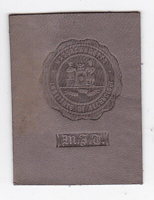 1910 Tobacco Cigarette Leather Massachusetts Institute of Technology MIT