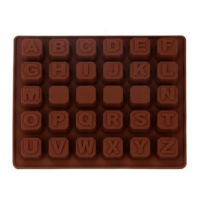Silicone Letter Alphabet Cake Fondant Mould Chocolate Cookies Candy Mold