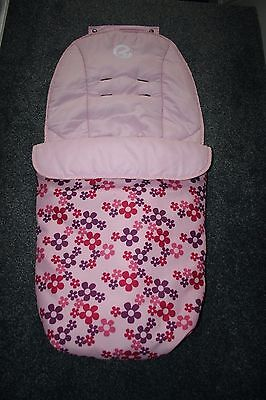 Oyster cosy toes footmuff baby pink with flowers