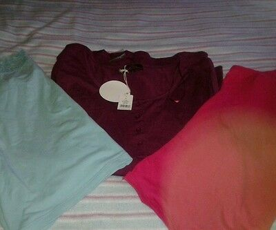 ladies nightwear tops bundle size large (14-16)