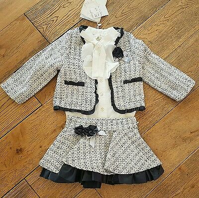 SALE girls age 4-5 years Couche Tot Skirt, Jacket and blouse set Spanish/romany