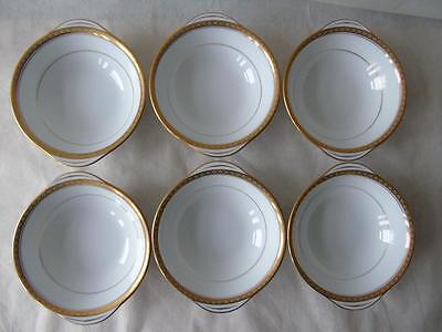6 x Noritake Richmond Pattern No 6124 Handled Lugged Cereal Dessert Bowls 6.75""