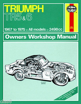 Triumph TR5 and TR6 Owners Workshop Manual 1967-75 by Haynes *NEW